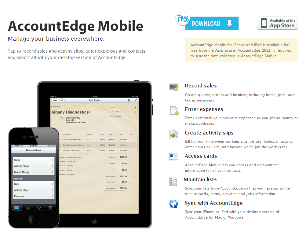 AccountEdge Mobile