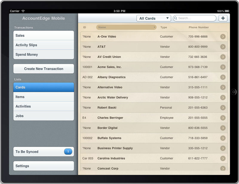 Ipad - manage contacts