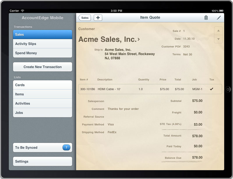 ipad - record sales