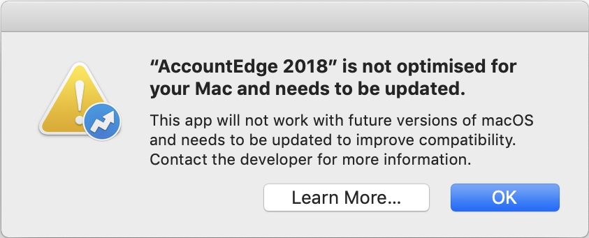 2025242 AccountEdge is not optimised for your Mac - Visma